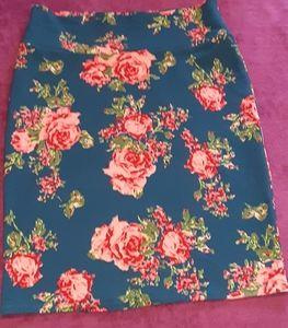 RARE XL LuLaRoe Cassie Retro pink floral roses